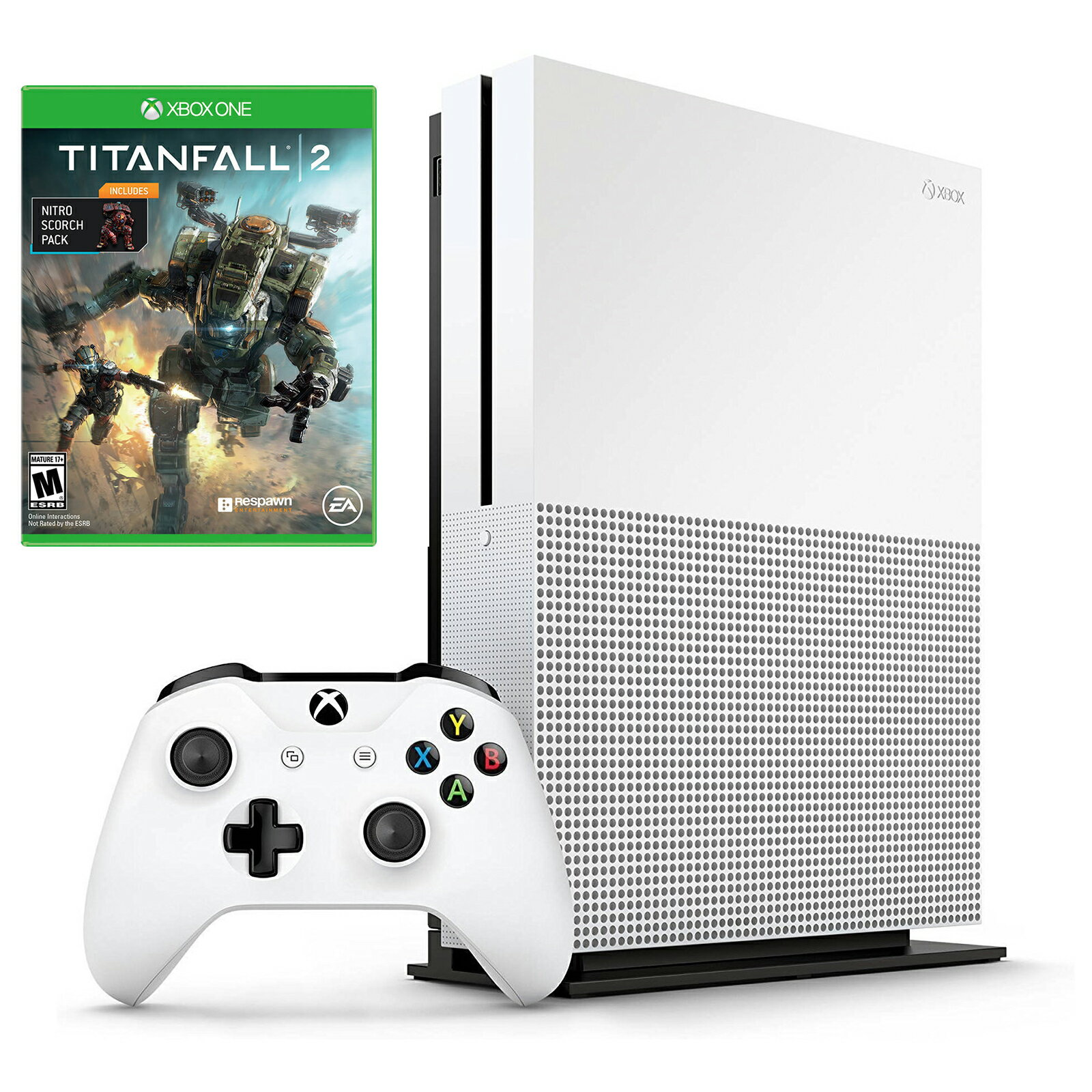Microsoft Xbox One S 1TB Console with Titanfall 2 with Nitro Scorch Pack