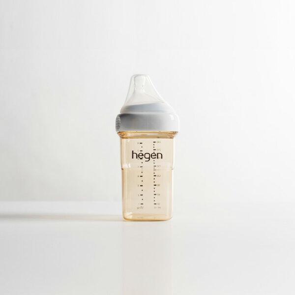 新加坡【hegen】金色奇蹟PPSU多功能方圓型寬口奶瓶240ml