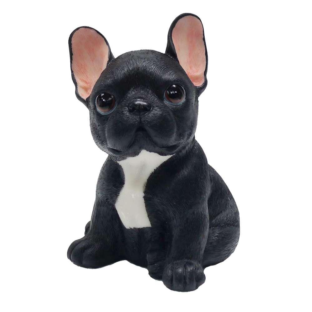 【摩達客寵物】超萌擬真黑黑大旺鬥牛犬創意狗狗寵物擺飾(單入)