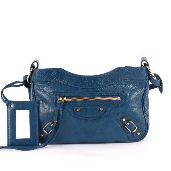 【BALENCIAGA】小金釦斜背包(小款)(藍色) 242803 D94IG 4222