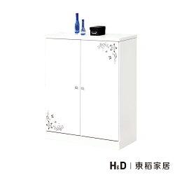花語雪白2.7尺二門收納鞋櫃 / H&D / 日本MODERN DECO