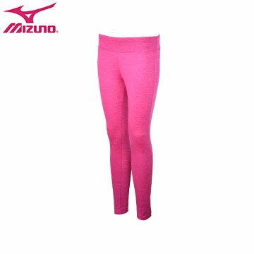 D2TB673667(紫紅)彈性材質、內裡細刷毛 女休閒緊身褲 【美津濃MIZUNO】