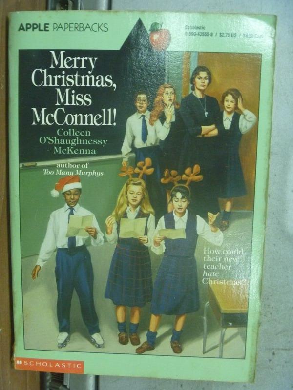 【書寶二手書T6/原文小說_MNC】Merry Christmas, Miss McConnell