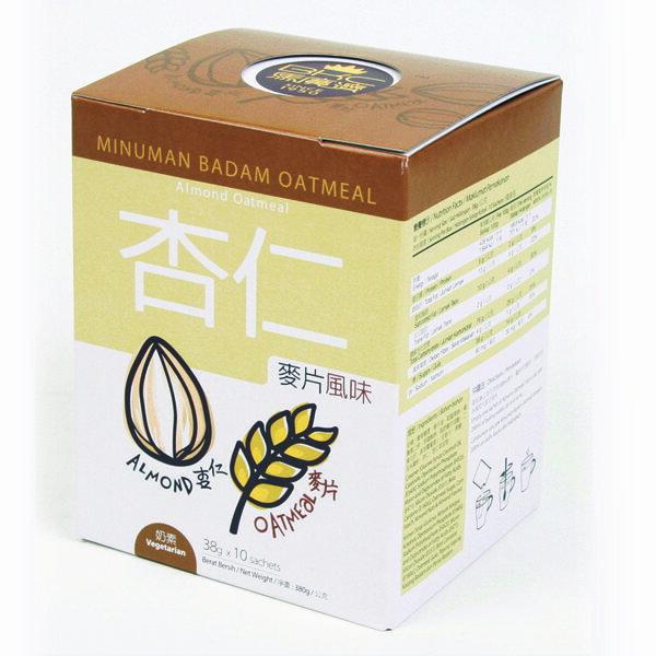BKC馬廣濟 杏仁飲(麥片風味) 芳香濃郁 膳食纖維 飽足感 38gX10包/盒