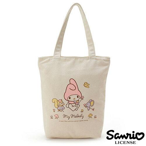 【日本正版】美樂蒂 My Melody 帆布 托特包 手提袋 肩背包 三麗鷗 Sanrio - 042917