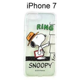 SNOOPY 透明軟殼 [RING] iPhone 7 史努比【台灣正版授權】