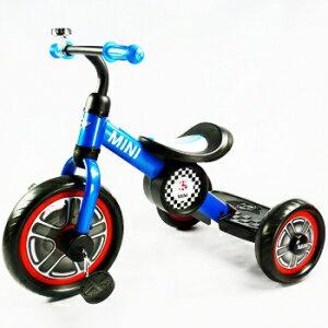 英國Mini Cooper 兒童三輪車10吋-激光藍★衛立兒生活館★