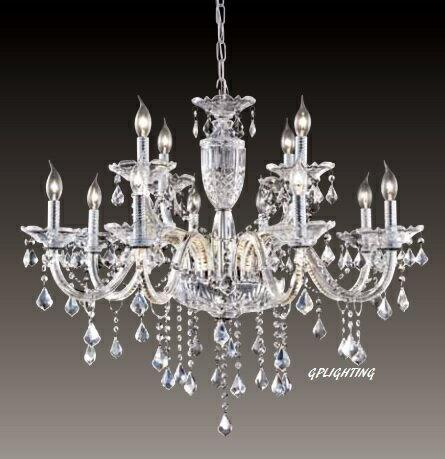 水晶蠟燭吊燈 E14 * 12 (寬80公分)