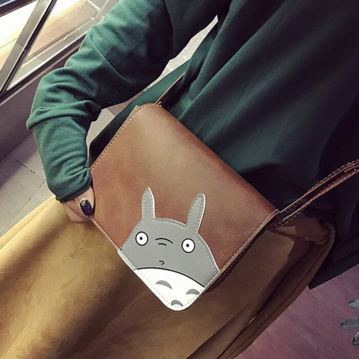 糖衣子輕鬆購【DZ0235】韓版時尚百搭卡通宮崎駿龍貓小方包單肩包斜肩包