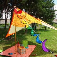 新手露營用品推薦到【露營趣】中和 TNR-151 七彩風條 裝飾 戶外 露營 帳篷飾品