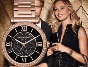 【MICHAEL KORS】正品 羅馬錶盤鑲鑽手錶 黑色水晶鑽女錶 腕錶 MK3356 3