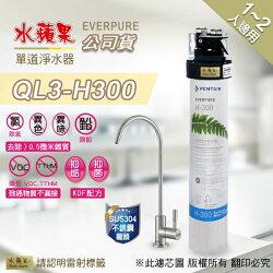 【水蘋果快速到貨~免費安裝】水蘋果公司貨 EVERPURE QL3-H300 單道 淨水器