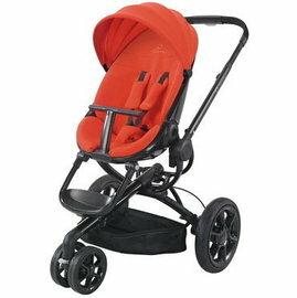 【淘氣寶寶●特價品】【限量版黑框支架】荷蘭 Quinny Moodd 氣壓雙向手推車(黑框紅)