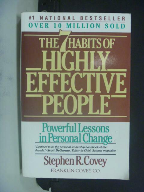 【書寶二手書T7/財經企管_KOV】The 7 Habits Of Highly Effective People
