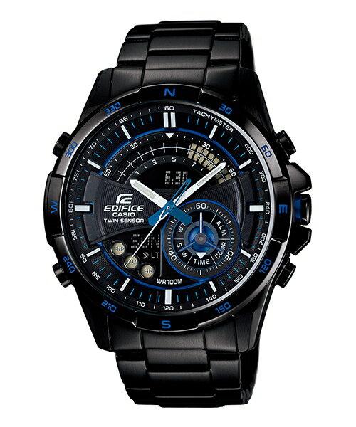 CASIO EDIFICE ERA-200DC-1A2重裝武力流行腕錶/黑面47mm