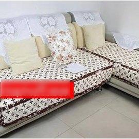 【 布藝沙發墊 90x150cm 】咖啡色沙發墊純棉-7101008
