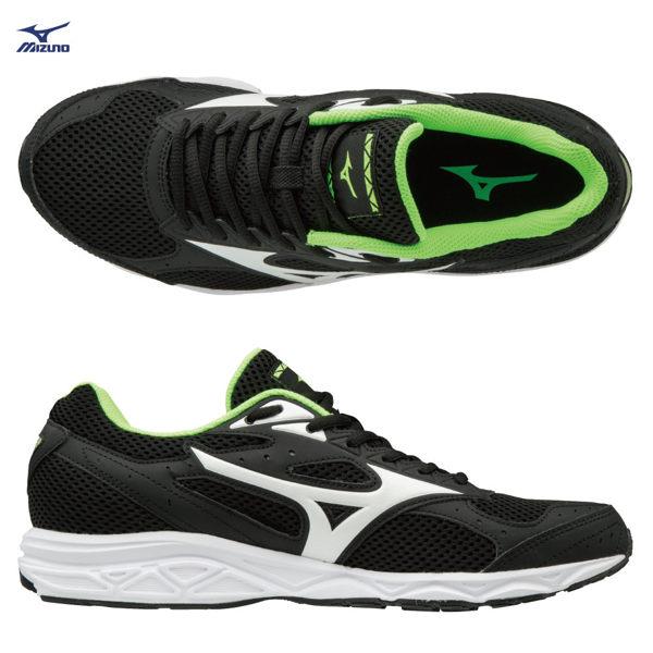 MIZUNOMAXIMIZER20男鞋慢跑寬楦黑白螢光綠【運動世界】K1GA180015