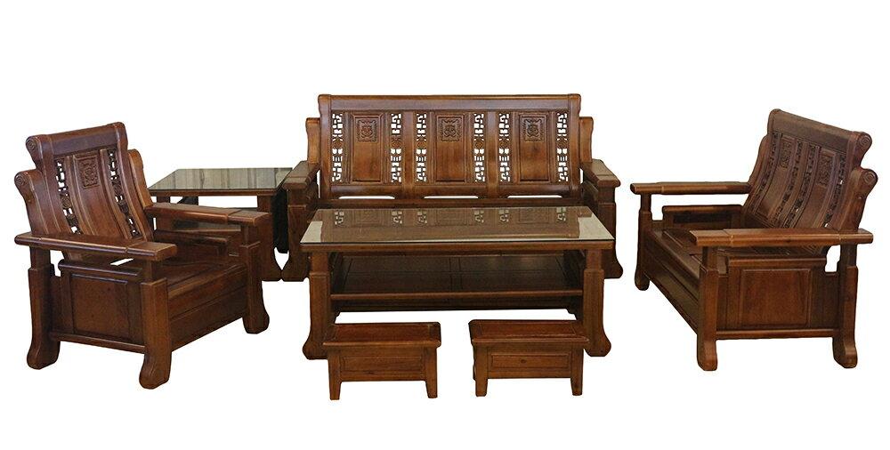 【 尚品傢俱】779-23 芭達雅 1+2+3+大小茶几木椅組/Sofa Bed/貴妃沙發床/沙發躺椅
