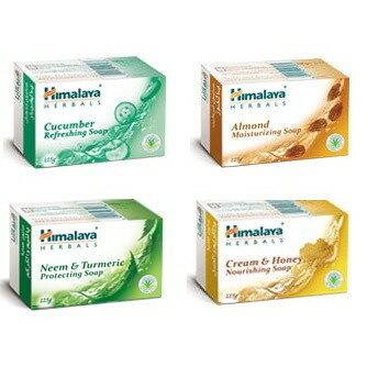 [綺異館]印度香皂 Himalaya 喜馬拉雅香皂 125克 苦楝 杏仁 黃瓜 蜂蜜(有medimix)