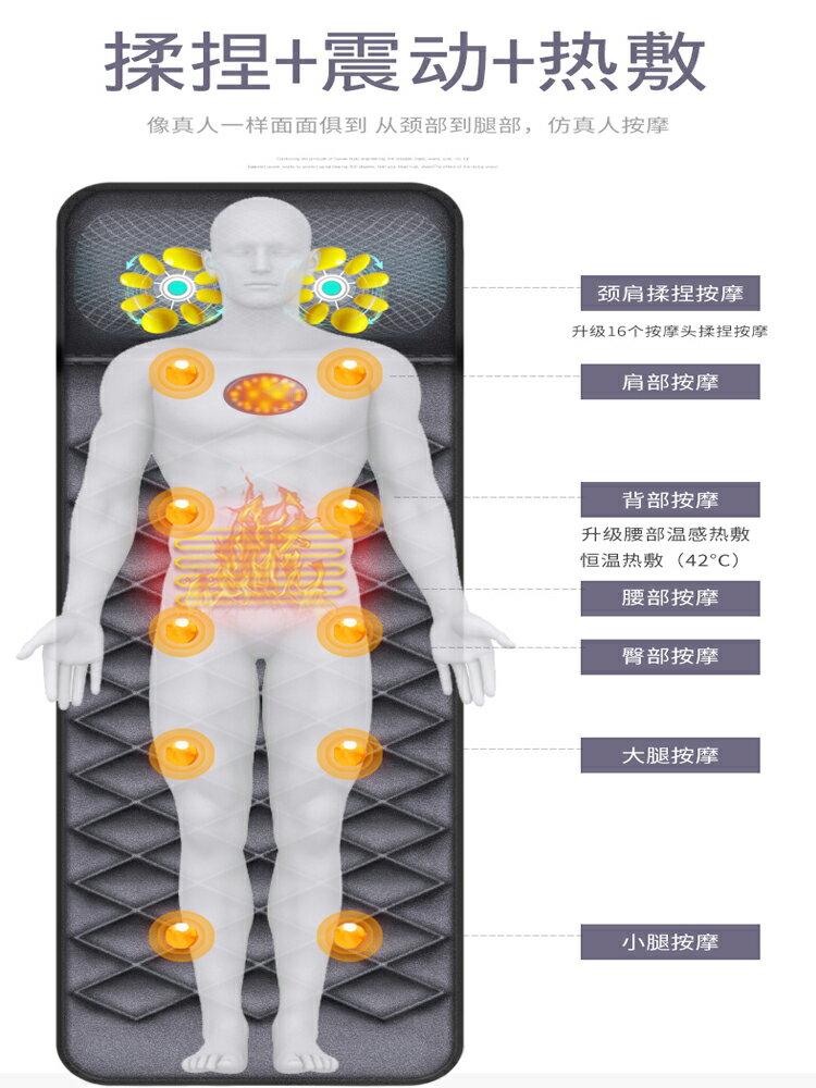 【免運】台灣現貨 多功能頸椎按摩器頸部腰部肩背部全身按摩墊電動揉捏儀頸部肩部全身多功能振動  喜迎新春 全館8.5折起