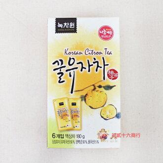 【0216零食會社】韓國柚子茶隨身包(6入)180g