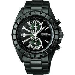 ALBA WIRED 都會雙面遊俠計時腕錶 黑 7T94-X003M(AGAV065) 41mm