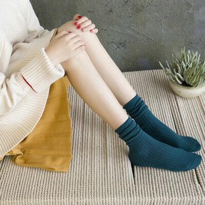 網紅款堆堆襪女日系秋冬襪子純棉款女士襪子純色學院風百搭中筒襪 5