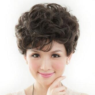 ☆雙兒網☆優質假髮(現+預)【105】氣質媽媽貴氣小短捲髮型