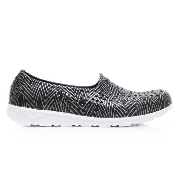 《2019新款》Shoestw【92U1SA06BK】PONY TROPIC 水鞋 軟Q 防水 懶人鞋 洞洞鞋 黑色銀線 男女尺寸都有 1