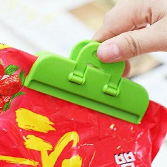 ♚MY COLOR♚平口強力封口夾(2個裝) 零食 封口 密封 懸掛 包裝 晾曬 衣物 食品 多功能 【R70】