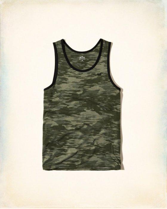 美國百分百【Hollister Co.】背心 T恤 HCO 無袖 T-shirt 海鷗 滾邊 淺麻灰 S號 I212