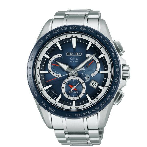 Seiko Astron 8X53-0AD0B(SSE053J1)時尚紳士太陽能GPS校時腕錶/藍面44.6mm