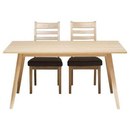 ◎實木餐桌椅五件組 ALAND140 白橡木 NITORI宜得利家居 2