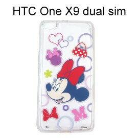 迪士尼透明軟殼 ^~形狀^~ 米妮 HTC One X9 dual sim~Disney