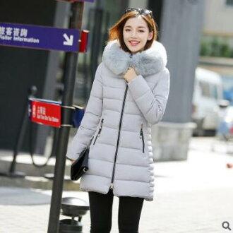 【鳶尾紫服飾館】bz006 羽絨 外套 推薦 品牌 女款 長版 韓版甜美 羽絨外套 冬裝女 羽絨大衣 斗篷式棉外套 現貨