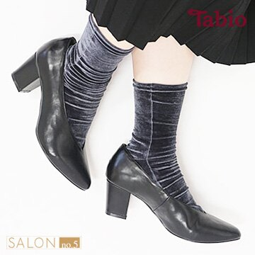 【靴下屋Tabio】高雅光澤絲絨短襪/ 日本職人手做