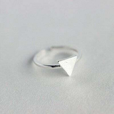 925純銀戒指開口戒~唯美拉絲幾何圖形七夕情人節 女飾品2款73dt68~ ~~米蘭 ~