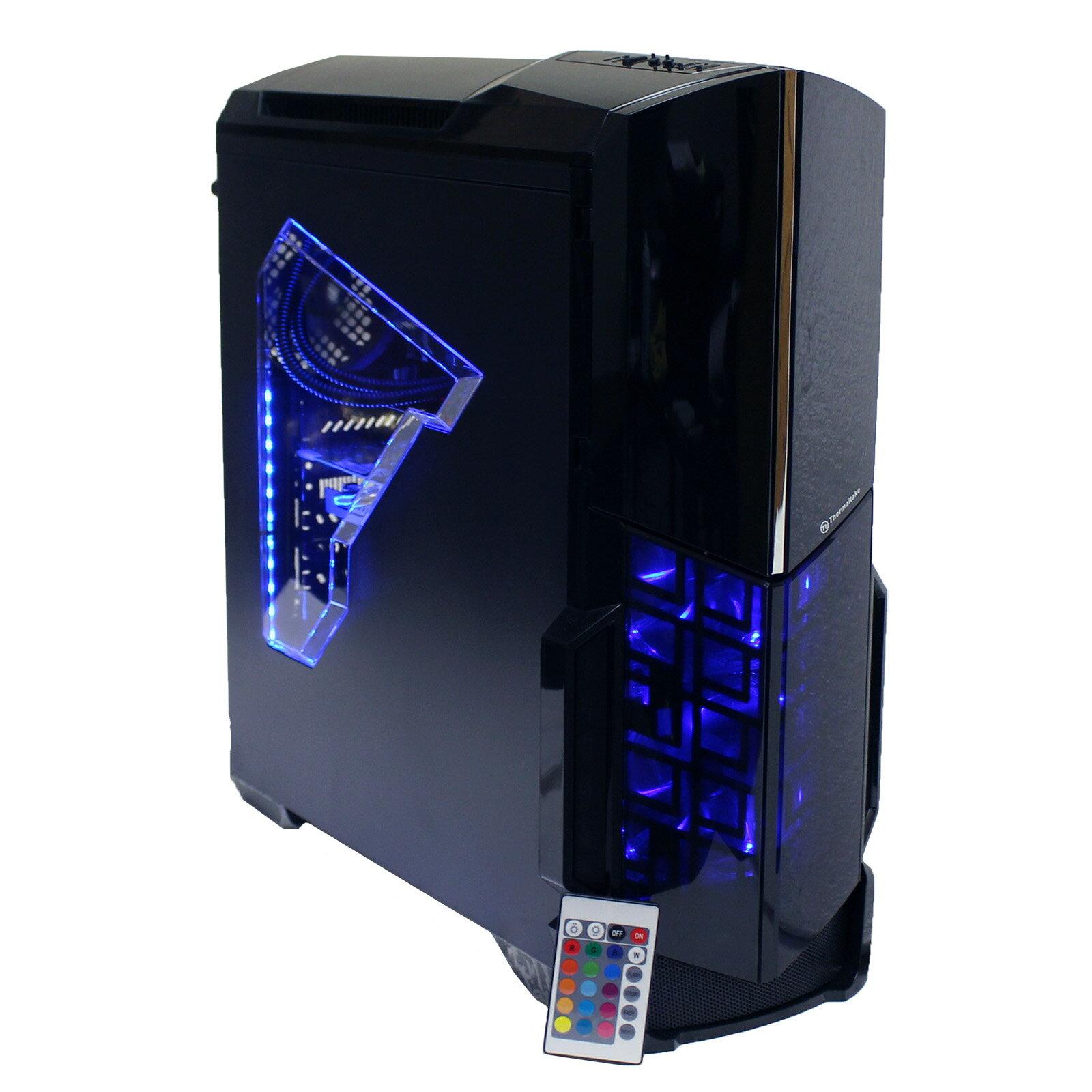 97a2b5988c16 Custom RGB ThermalTake Versa N21 Gaming PC 6th Gen i7 4GHz 16GB DDR4 128GB  SSD 2TB HD DVDRW AMD RX 470 4GB GDDR5 HDMI BluRay 1300Mbps AC WiFi W10P