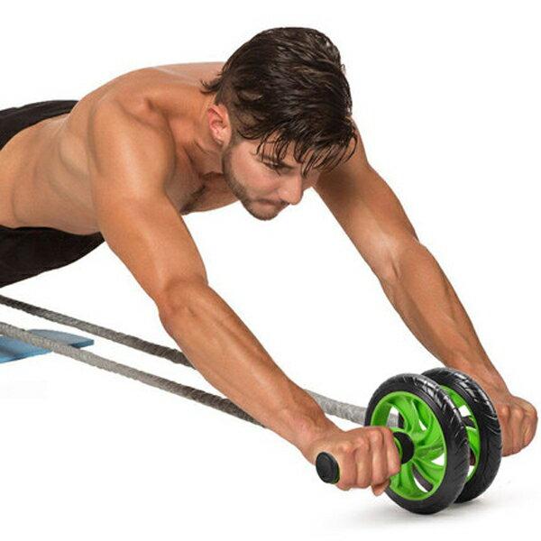BO雜貨:BO雜貨【SV6391】防滑多功能雙輪健腹輪靜音腹肌輪健美輪核心肌人魚線馬甲線送跪墊