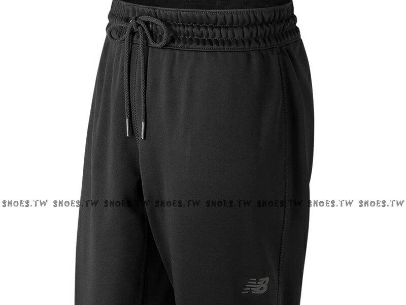 Shoestw【AWP73156BK】NEW BALANCE NB服飾 Tech Fleece 長褲 運動褲 縮口褲 NB DRY 保暖 內刷毛 黑色 無口袋 女生 2