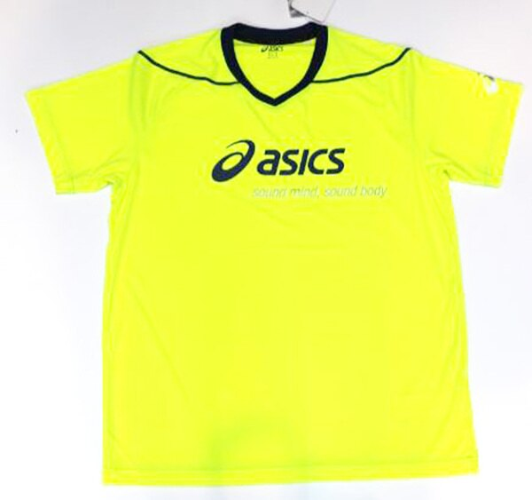 陽光運動館:ASICS亞瑟士男運動短袖機能T恤吸濕排汗涼感透氣XW6728-05(螢光綠)原價1280[陽光樂活]