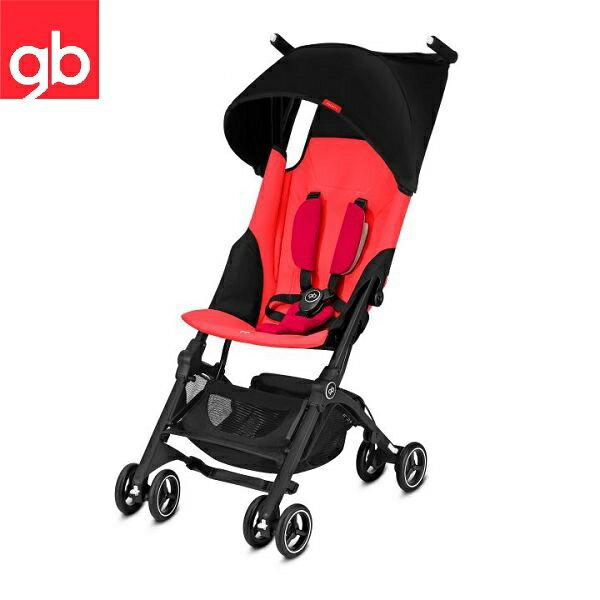 【2018圓頂棚新款】美國 GB Pockit +折疊口袋嬰兒手推車/口袋推車(紅色)