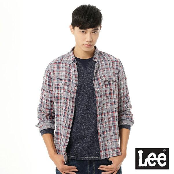Lee Jeans tw:【精選上衣3.5折】Lee長袖紅灰格子襯衫UR-男款【單筆消費滿1000元全會員結帳輸入序號『CNY100』↘折100