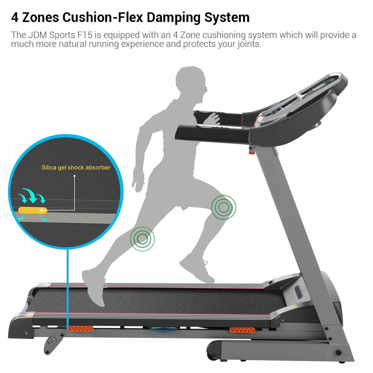 Electric Treadmill Exercise Equipment Machine Running Training Fitness Gym Home 1