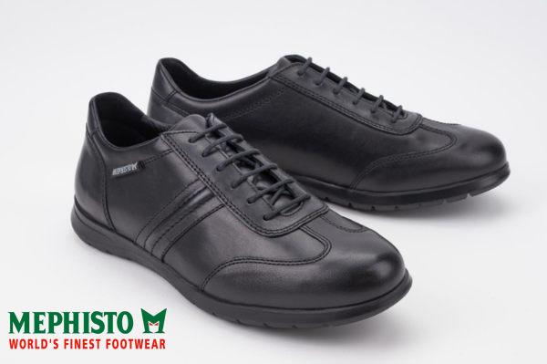 【全店點數15倍送】Mephisto 法國工藝綁帶皮革休閒鞋 黑 1