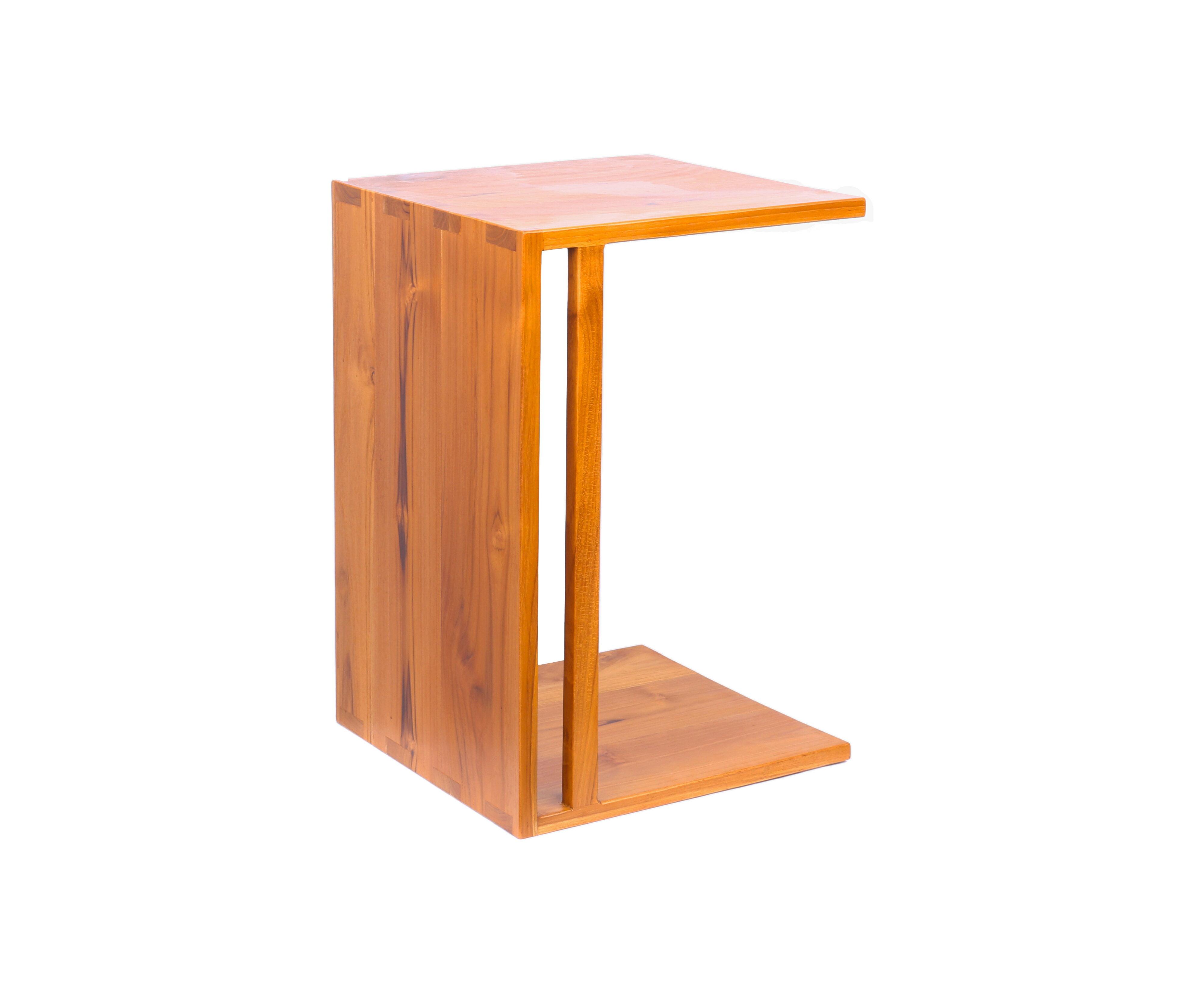 柚木沙發邊几 小邊桌 小茶几 沙發几 兩用桌 功能桌 柚木家具A.H.Furniture  面寬40 深度40 高度60