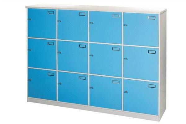 【石川家居】924-04白色十二格門置物櫃(CT-810)#訂製預購款式#環保塑鋼P無毒防霉易清潔