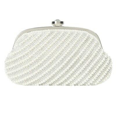 晚宴包鏈條手提包-珍珠鑲鑽優雅時尚女手拿包3色73rk51【獨家進口】【米蘭精品】