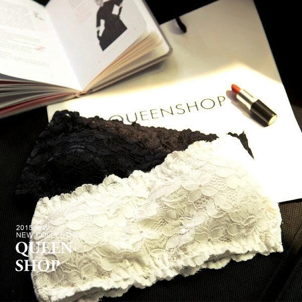 Queen Shop【01041048】布蕾絲平口胸墊小可愛 兩色售*預購*