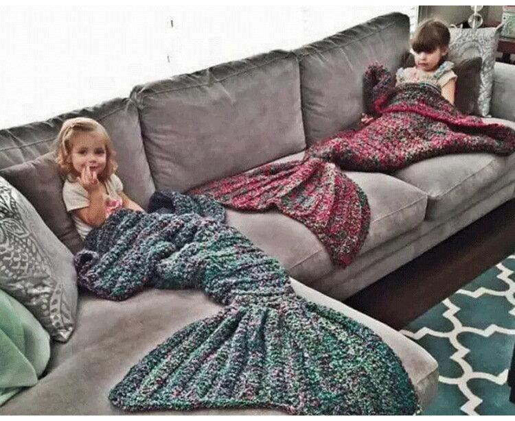 Magic Channel蔡依林同款美人魚尾巴沙發蓋毯成人款預購七天